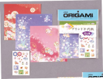 Print Chiyogami w/ stickers; 20 shts, 5 7/8 Inch sq.