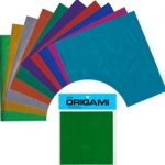 Assorted Color Foil w/ instructions, 18 shts, 9 ¾ Inch sq.