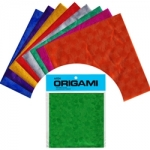 Embossed Foil; 10 asst. colors; 20 shts, 5 7/8 Inch sq.
