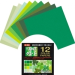 TANT 12 shades-Green 6 inch 48 sheets