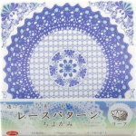 Lace Chiyogami Flower 6 inch 36 sheets