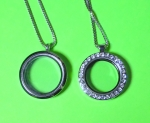Silver Tone Locket with 20 inch box chain